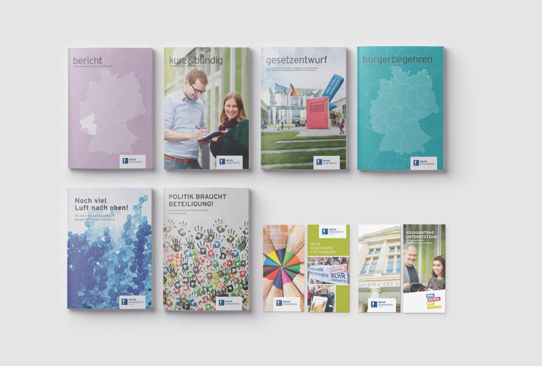Mehr Demokratie - Editorial Design und Flyer