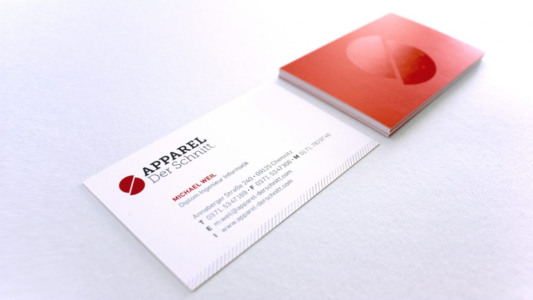 Apparel - Der Schnitt. Visitenkarten